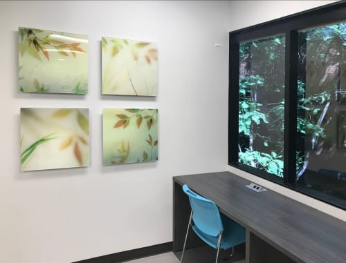 Paintings by Dianne Poinski seen at Kaiser Permanente Pasadena Medical Offices, Pasadena - Wall Art