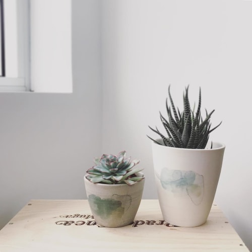 Vases & Vessels by Marie-France Labrosse seen at Private Residence, Montreal - Small Planters