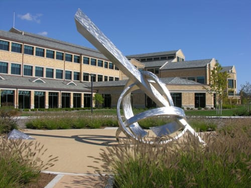 Public Sculptures by Bruce A. Niemi at West Bend Mutual Insurance, West Bend - Standing The Test Of Time