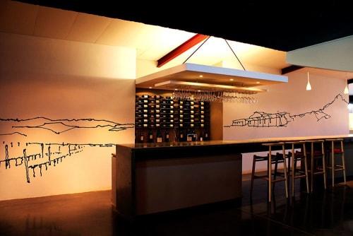 Murals by Lorenzo Nassimbeni seen at Neil Ellis Wines Pty Ltd, Stellenbosch - Distil