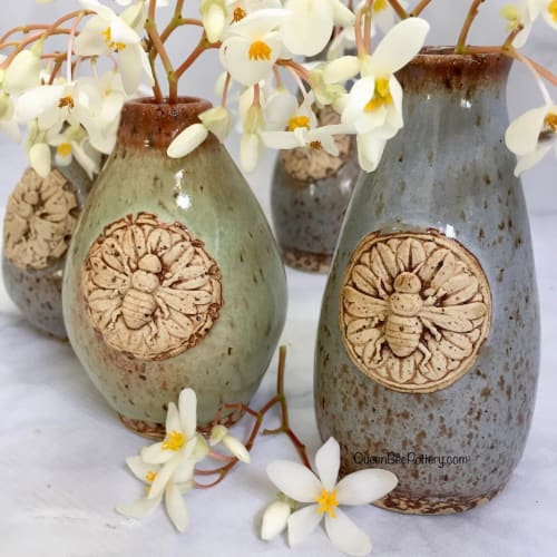 Vases & Vessels by Queen Bee Pottery seen at Queen Bee Pottery Studio, Coconut Creek - Bee Hive Vase