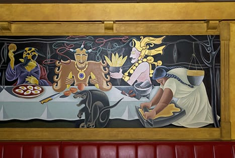Murals by Arnie Charnick seen at Tinga Taqueria - La Ultima Cena