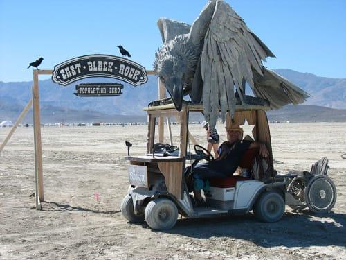 Public Sculptures by Emma Hardy seen at Black Rock Desert - Raven