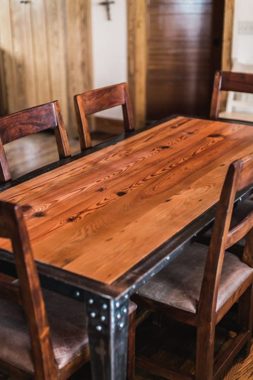 Tables by Joint Venture Woodworks seen at Private Residence, Fredericksburg - Steel Trap