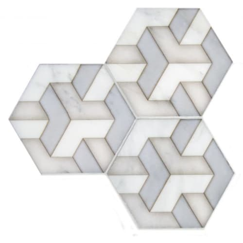 Tiles by StoneImpressions seen at Private Residence, Boise, ID, Boise - Alston Tribeca Hexagon Tile