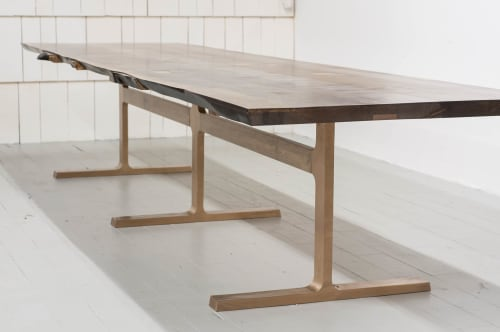 Tables by Jeff Martin Joinery seen at Private Residence - Bronze Shaker Table