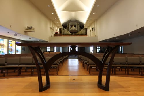 Tables by Gunderson seen at Christ Presbyterian Church, Madison - Liturgical Table