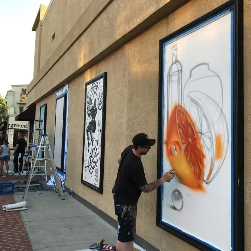 Murals by Steven Daily Studios seen at Style World, Santa Ana - Mural