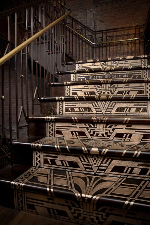 Hardware by Amuneal at TED BAKER 5th Avenue Store, New York - Bronze Filigree Staircase