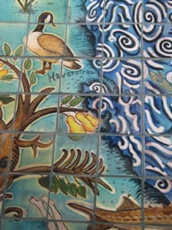 Murals by Liz Surbeck Biddle seen at Croton Harmon Railroad Station, Croton-on-Hudson - MTA Commission