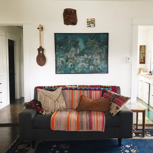Pillows by Amber Seagraves seen at Montecito Heights Residence, Los Angeles, Los Angeles - Elka and Axel Fringe Pillow
