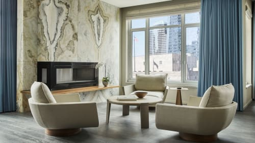 Chairs by Yabu Pushelberg seen at Four Seasons Hotel New York Downtown, New York - Rua Ipanema