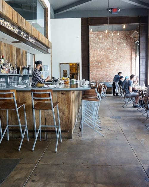 Chairs by Brendan Ravenhill seen at Osteria La Buca, Los Angeles - La Buca Stool