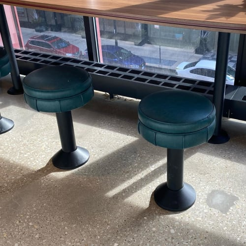 Chairs by Richardson Seating Corporation seen at Hayden Hall, Chicago - Floor Mounted Counter Stool