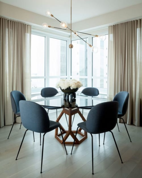 Tables by Robert Sukrachand at Private Residence, New York - Tetrahedron Table