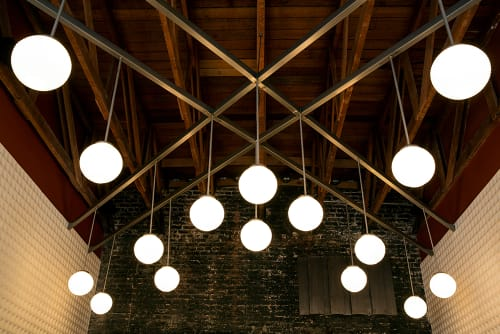 Lighting by Lauren Geremia seen at Hogwash, San Francisco - Globe Light Fixture