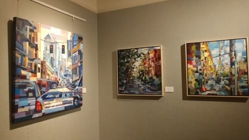Paintings by Brooke Borcherding Fine Arts at Kimpton Alexis Hotel, Seattle - Michael Birawer Gallery Exhibit