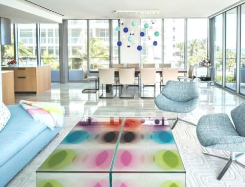 Tables by Irene Mamiye seen at Miami Beach Home, Miami Beach - Coffee Table