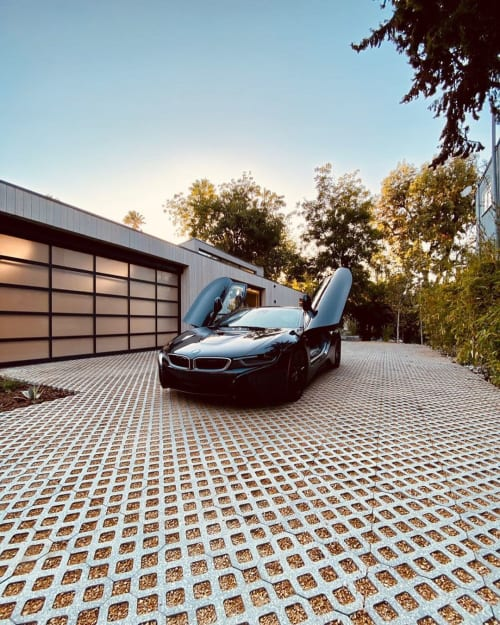 Tiles by concrete collaborative seen at Bridge at Valley Glen, Los Angeles - Permeable Driveway Pavers