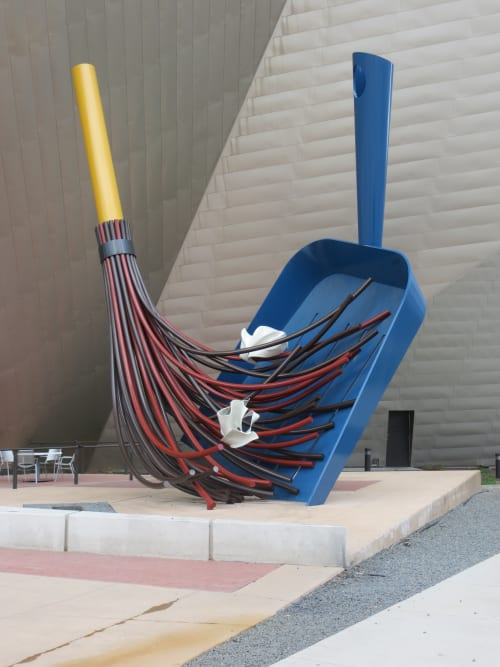 Sculptures by Claes Oldenburg seen at Denver Art Museum, Denver - Big Sweep