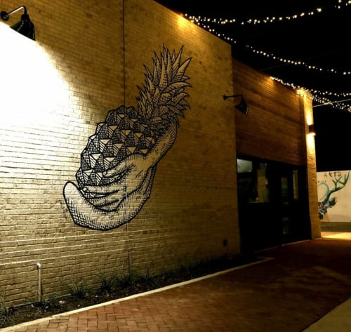Murals by Derek Nemunaitis seen at Tribal All Day Cafe, Dallas - Life Nourishment
