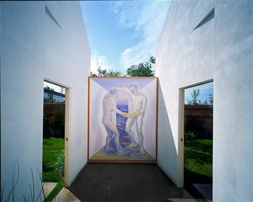 Street Murals by Noa Bornstein seen at 417 Bay Street Santa Monica, Ocean Park, Santa Monica - Dream of the Two Houses