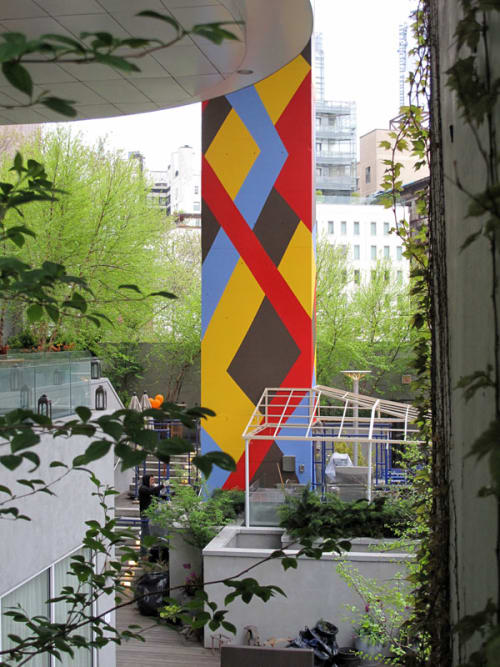 Murals by Molly Dilworth seen at The James New York, New York - Ghost Acre