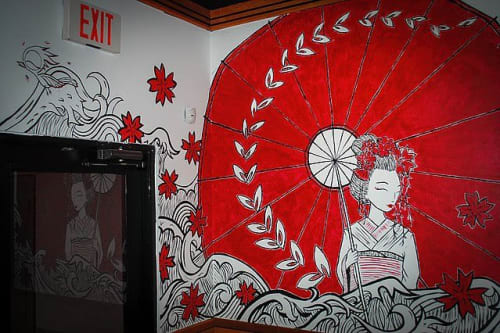 Murals by Caroline Truong seen at Tokyo Japanese Steakhouse & Sushi Bar, Port Arthur - Mural