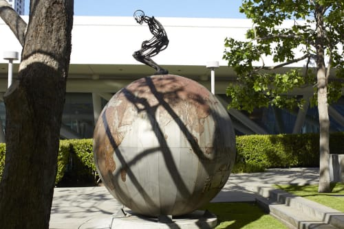 Public Sculptures by Chico MacMurtrie seen at Yerba Buena Gardens, San Francisco - Urge
