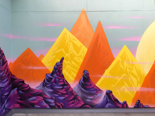 Murals by Bruno Smoky seen at Kelowna General Hospital, Kelowna - Articuladamente arte!