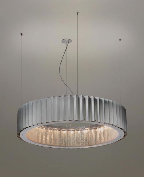 Chandeliers by McEwen Lighting Studio seen at Private Residence, Philadelphia - Gear Suspension
