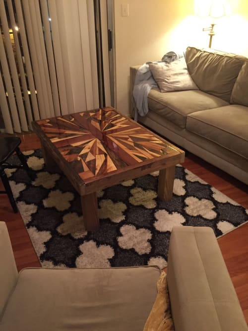 Tables by Joint Venture Woodworks seen at Private Residence, Fredericksburg - Sunburst
