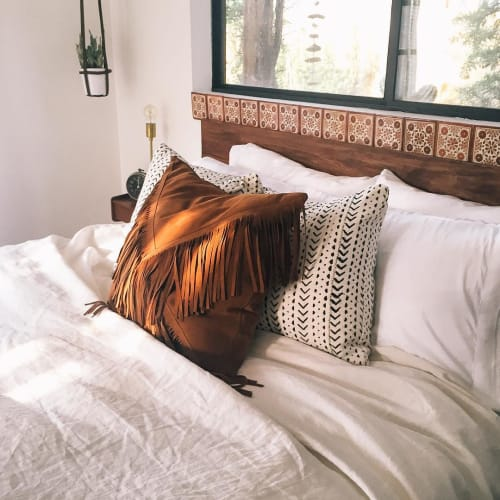 Pillows by Amber Seagraves seen at The Joshua Tree Casita, Joshua Tree - Elka Fringe Pillow