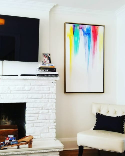 Paintings by Peter Triantos seen at Private Residence, Toronto - Splash of Color #36