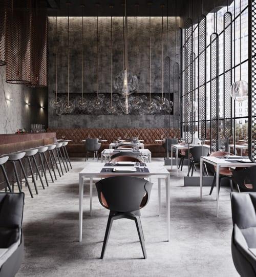 Interior Design by Georgios Tataridis seen at Richter Bar-Restaurant, Chicago - Interior Design