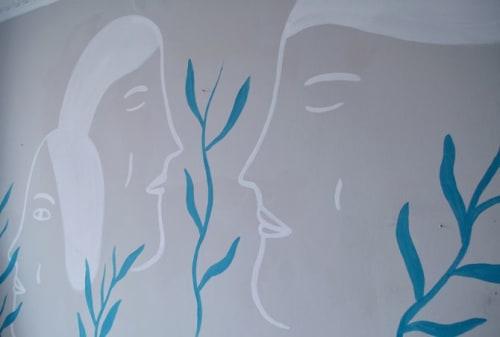 Murals by Alina Vergnano seen at Tomato Backpackers Hotel, Torino - Murals