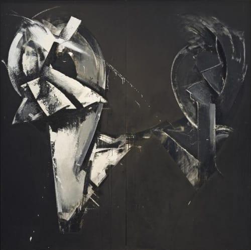 Paintings by Jay DeFeo at San Francisco International Airport, San Francisco - Masquerade in Black