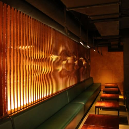 Wall Treatments by Matsys seen at Roka Akor San Francisco, San Francisco - Bar Textured Art Wall