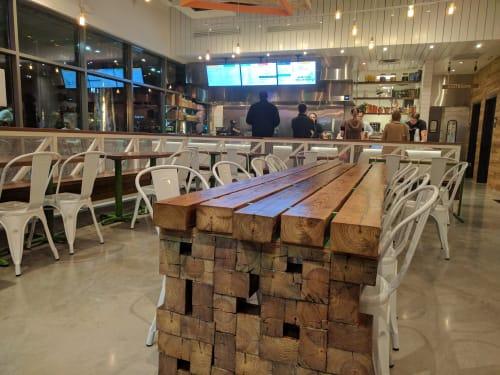 Tables by Shota Yamaguchi seen at Chi'Lantro, Shore District Drive, Austin - Bespoke Table