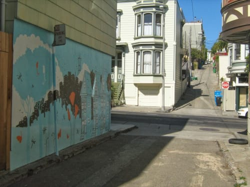 Ames Alley at Guerrero and 22nd Street, Urban Canvases, Interior Design
