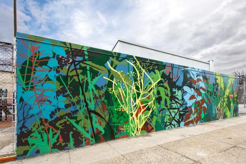 Street Murals by Kim Beck seen at Conestoga Recreation Center, Philadelphia, PA, Philadelphia - Wildish