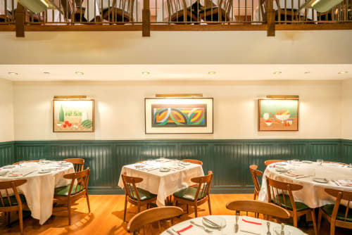 Paintings by Susan Jane Walp seen at Union Square Café, New York - Painting