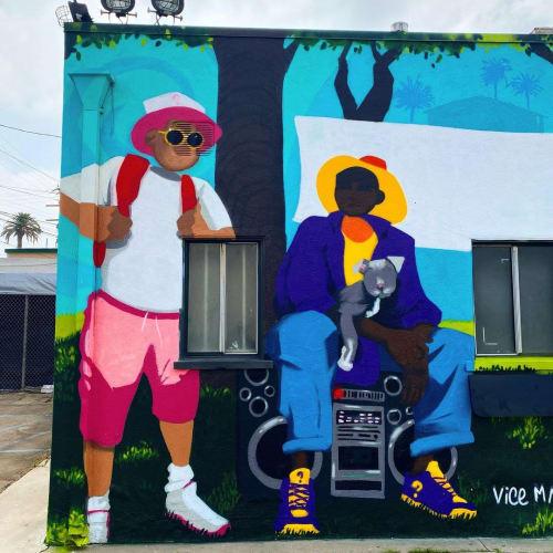 da cookout Mural   Street Murals by WHOSVLAD   Robert Earl's BBQ in Long Beach