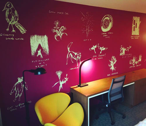 Murals by Johnny DeFeo seen at Hilton Garden Inn Boulder, Boulder - Boulder Hieroglyphs