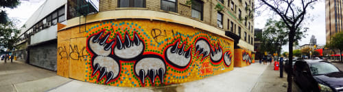 Murals by Claw Money seen at Claw & Co., New York - Wall Graffiti