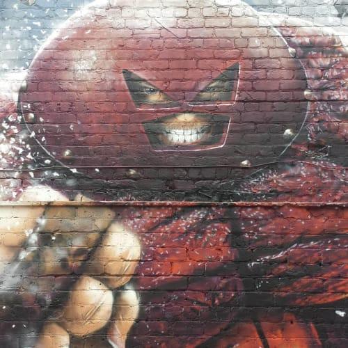 Street Murals by Rogueoner seen at 71 Brewing, Dundee - Juggernaut