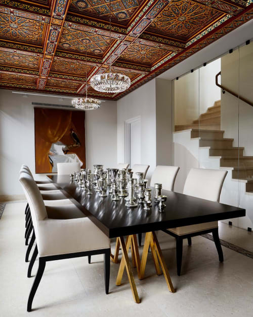 Tables by Alex Drew & No One seen at Private Residence, New York - Golden Blaze Dining Table