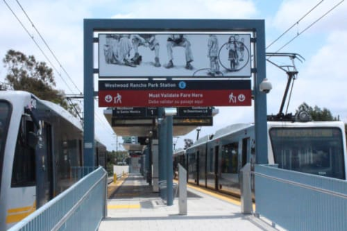 Art & Wall Decor by Abel Alejandre seen at Westwood/Rancho Park Station, Los Angeles - Panoramas