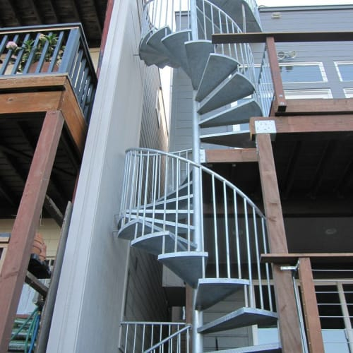 Sculptures by Iron Maverick seen at Private Residence, San Francisco - Spiral Staircase