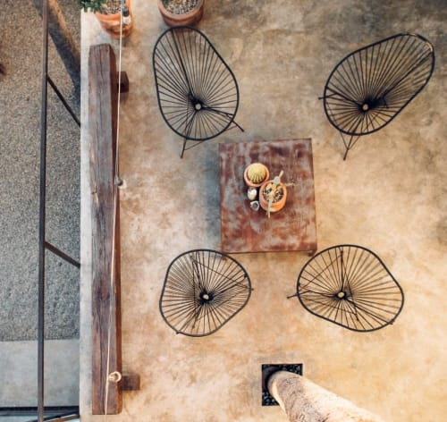 Tables by Stu Waddell seen at Drift San Jose, San José del Cabo - Rustic Iron Tables